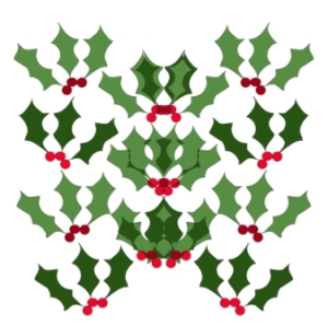 31 Colored Holly Leaves 4 web