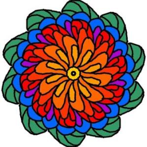 Symatric Flower colored