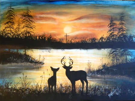 Sunrise buck n doe 4 web
